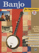 Banjo for Beginners Tony Trischka 5-String TAB Music Book/CD Learn to Play