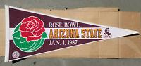 "1987 Rose Bowl Pennant Arizona State St. ASU NCAA College Football 30"" Vintage"