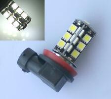 2 x CANBUS Error Free H11 Car LED 27SMD 5050 Super White Light Bulbs