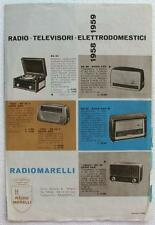 Catalogo della Radiomarelli (radio, televisori, elettrodomestici), 1958/1959