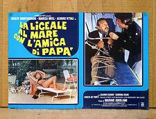 LA LICEALE AL MARE CON L'AMICA DI PAPà fotobusta poster affiche Montagnani BW45