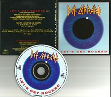 DEF LEPPARD Let's Get Rocked GREAT BAND PIC USA 1992 PROMO DJ CD single CDP641