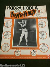 ORIGINAL SHEET MUSIC - HOOPA HOOLA with a HULA-HOOP - JOSE BOULTON