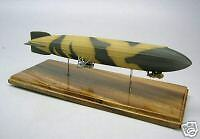 LZ-41 Zeppelin Navy LZ41 Airship Desktop Wood Model Large Free Shipping