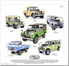 LAND ROVER SERIE I & II - Stampa artistica - Pick-up Station wagon 203cm 224cm
