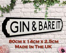 Gin & Bare It Vintage Road Sign / Street Sign