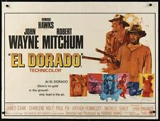EL DORADO British Quad movie poster 30x40 JOHN WAYNE ROBERT MITCHUM
