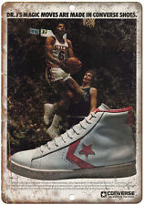 "Dr. J's Converse Sneakers RARE sneaker head 10"" x 7"" Reproduction Metal Sign"