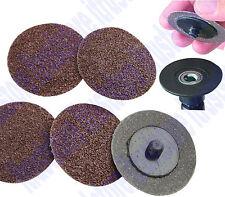 2 in Screw on Twisted Twist-Lock Abrasive Die Grinder Discs Sander 5 Pc 40 Grit