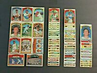 (Lot of 64) 1972 Topps Baseball Cards (Stars, Rookies, Commons)EX Condition LT12