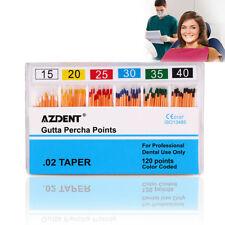 Dental Endodontic Obturation Gutta Percha Points GP0.02 15-40# 120 Points/PK
