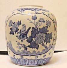 BLUE & WHITE PORCELAIN LAMP BASE CHINESE VASE  DRILLED FOR LAMP BASE, STUNNING