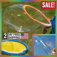 Giant Bubble Wand Kit 16 Ounce Bottle Tray Outdoor Play Toy Kids Boys Girls