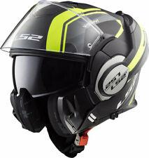 L Large Flip up chin guard LS2 Vailiant Full Face Road Motorbike Helmet Hi-Viz