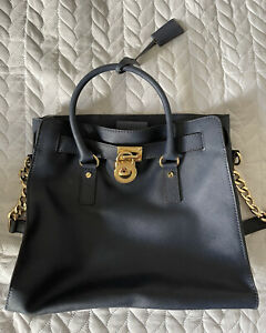 Navy Michael Kors Hammilton Large Leather Tote Bag Excellent Condition