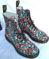 Dr. Martens Pascal 8 Eye Poppy AW004CK110 Flowers Comfort Boots Women's 8 L new