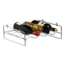 Chrome Wine Rack - Capacity 4 Bottles