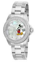 Invicta Women's Watch Angel White Mother of Pearl Dial Steel Bracelet 26238