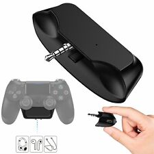 For PS4 Bluetooth Wireless Audio Microphone Headset Adapter Receiver Converter