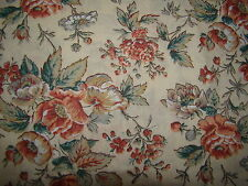 Antique Floral on tan all over Quilting Cotton Fabric BTY