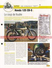 HONDA CB 125 S 1971 Joe Bar Team Fiche Moto #003157