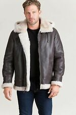 Classic Sheepskin B-3 Bomber Jacket with Detachable Hood - New Arrival