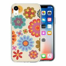 For Apple iPhone XR Silicone Case Retro Flower Pattern - S6346