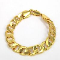 "Polymer Protected 10"" Luxury SG1208 18K Yellow Gold Plated Bracelet & Gift Bag"