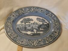 Vintage Daher Decorated Ware Oval Pastoral Scene Tin Bowl Made in England Nice!