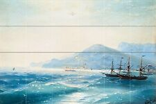 Ships Near the Coast Tile Mural Kitchen Bathroom Wall Backsplash 25.5x17 Ceramic