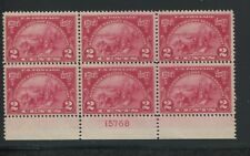 1924 Unites States Postage Stamp #615 Mint NH F/VF Plate No. 15768 Block of 6