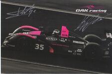KARIM Ajani, Matthieu Lahaye firmato a mano le Mans PROMO CARD OAK RACING.