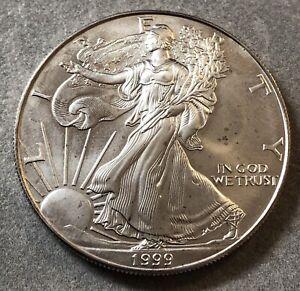 Monnaie Pièce Argent Silver 999 % 1 Dollar 1999 American Silver Eagle Liberty