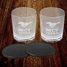 Ford Mustang 50 Years Tumbler Gift Set - Fifty - Coasters - 50th Anniversary