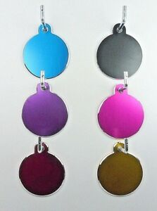 Pet Tags ~ Large Milled Discs ~  Engraved to Order