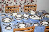 Wedgwood China Florentine Blue W 1956 Dinner and Tea collection