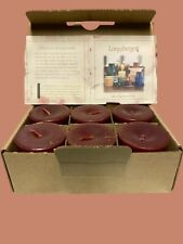 Longaberger Votive Candle 6 Pack Mcintosh Apple New
