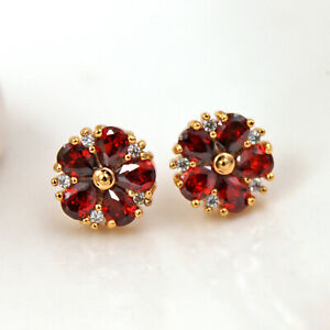 18K Gold Filled- Hollow Butterfly Circle Gemston Studs Earrings 65 Style to Pick