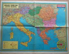 Vintage map SFRJ YUGOSLAVIA ITALY GREECE AUSTRIA  -POLITIKA PRESS 11.04. 1976