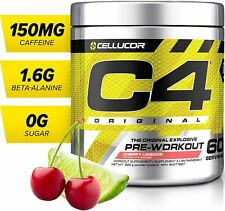 C4 Original 60 Servings Pre-Workout (Orange Burst | Blue Razz | Cherry Limeade)