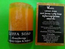 1 Bar LEMONGRASS & HONEY LUFFA SCRUB HERBAL SOAP WHITENING ANTI ACNE AGING 100g