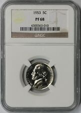 1953 5C NGC Proof PF 68 Jefferson Nickel