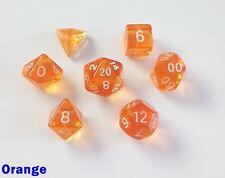 Bescon mini miniature Poly 7 DICE RPG Set translucide Gem Orange pathfinder d&d