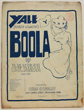YALE MARCH & TWO STEP BOOLA Vintage Sheet Music 1901