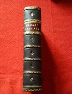 1822 antique leather bound book missale romanum religion bible Ireland Dublin
