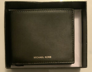 Michael Kors Slim Billfold Andy Black Leather Men's Wallet $98.00, 86F9LANF5L
