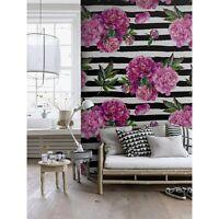 Non-Woven Wallpaper roll Watercolor peony Traditional art Home Mural Decor