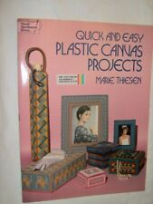QUICK & EASY PLASTIC CANVAS PROJECTS PATTERN CHART Tissue Frame Trinket Umbrella