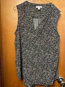 Dana Buchman sleeveless blouse; size XL; dressier blouse