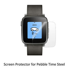 3* Clear LCD Screen Protector Cover Shield TPU Soft Film for Pebble Time Steel